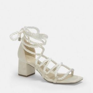 White rope Missguided low heel. Size 8. New!!!!